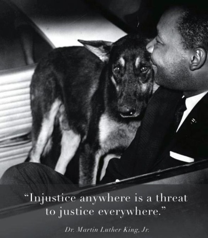 MLK and Police Dog